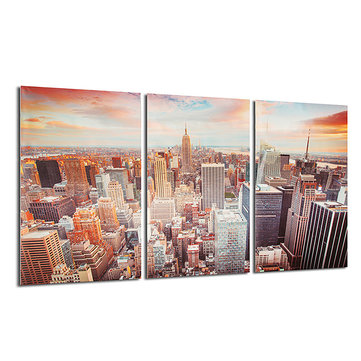 New York City Skyline Leinwand Druck Wand Kunst Bunte Bild ...